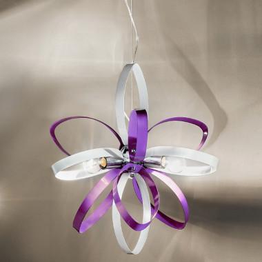 Lampada sospensione paralume e cristalli cascata glitter - Lampadari da cameretta ...