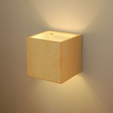 DEKO' QUADRO lampada da parete applique giallo effetto clessidra