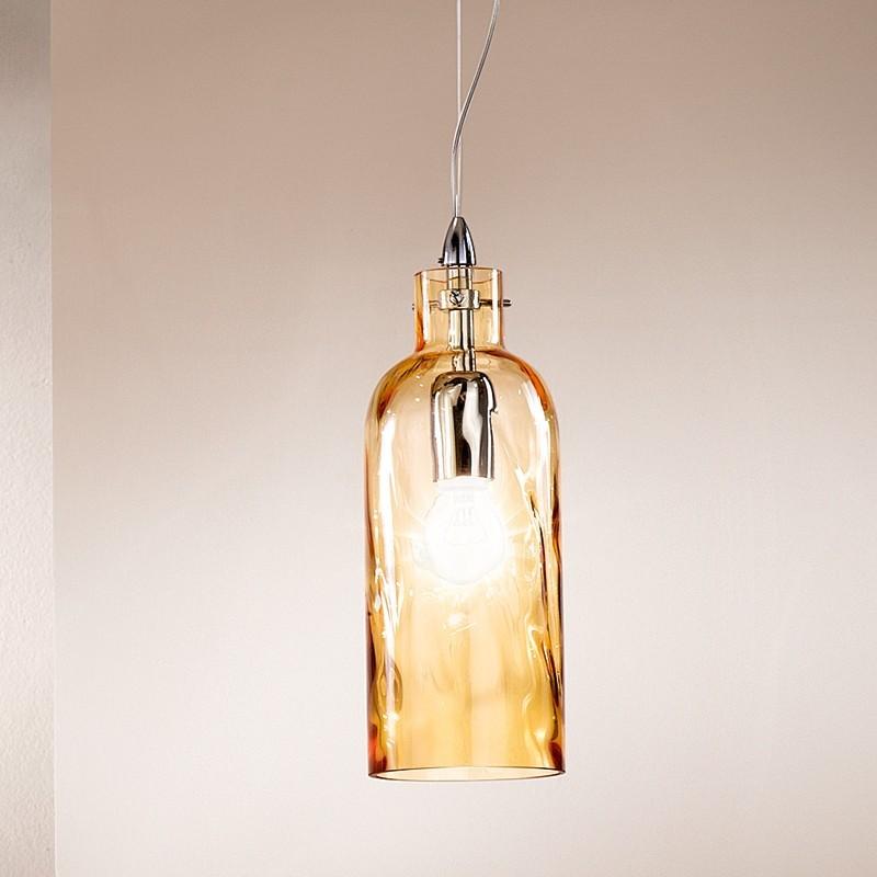BOTTIGLIA Lampada a Sospensione in Vetro Soffiato Design moderno