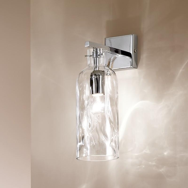 BOTTIGLIA Applique Lampada a Parete in Vetro Soffiato Design moderno