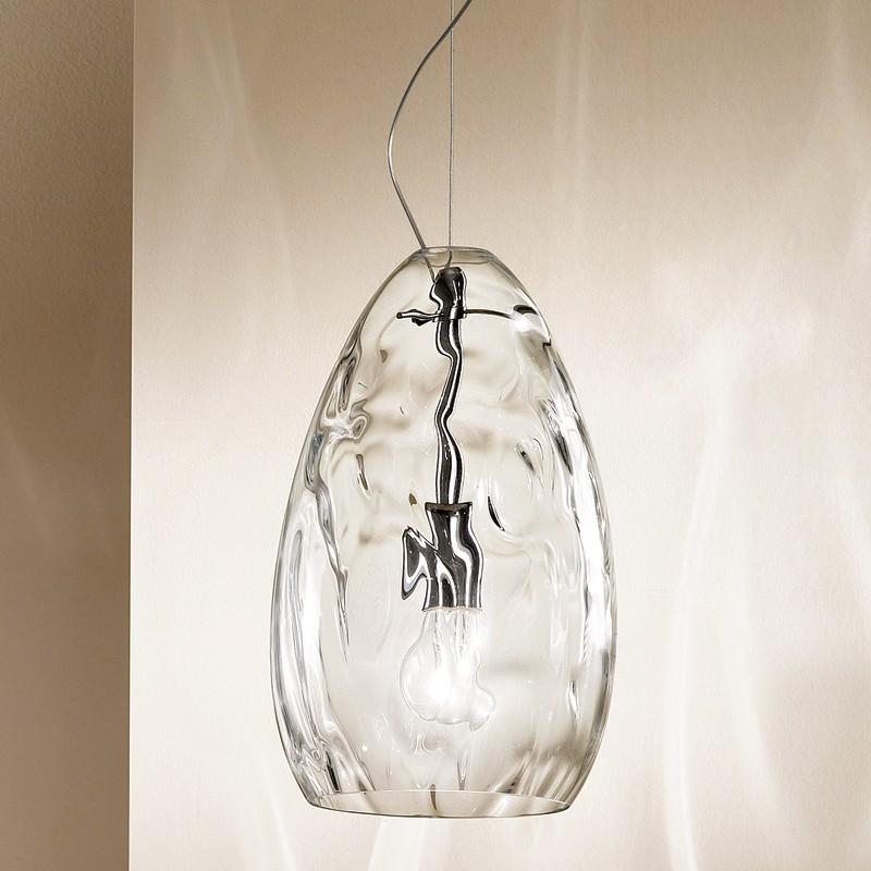 Lampadario Vetro Soffiato.Kiara Lampada A Sospensione In Vetro Soffiato Design Moderno D 20 Cm