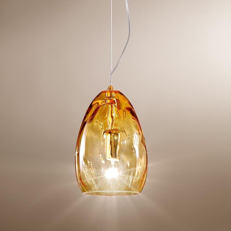 Moderna Lampada a Sospensione 2606/SP in vetro soffiato Design d. 13