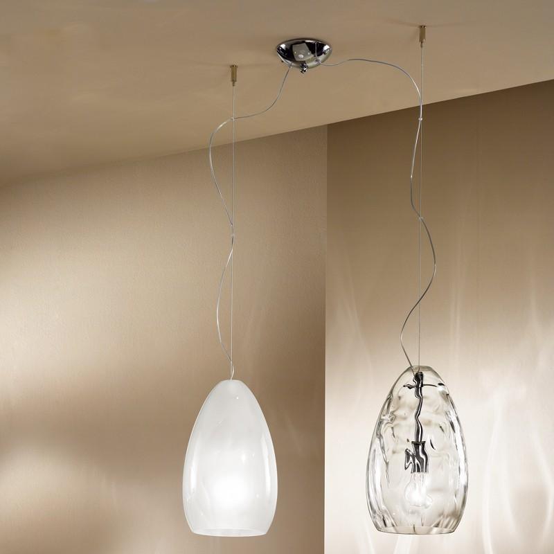 GLOBE Lampada a Sospensione grande plastica Design Moderno Linea Zero