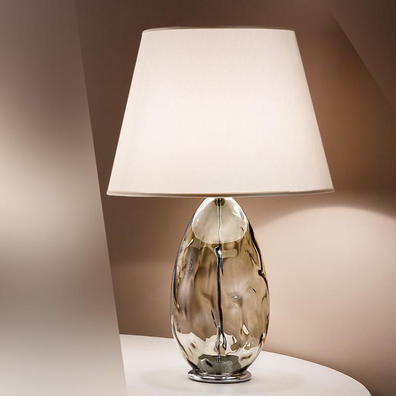 Paralumi In Vetro Per Lampade Da Tavolo.Kiara Lampada Da Tavolo In Vetro Soffiato Design Moderno