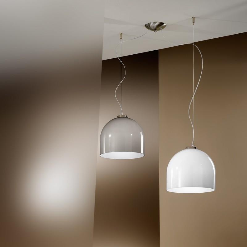 Bowl lampada a sospensione 2599 s2p a 2 luci design moderno - Lampada sospensione design ...