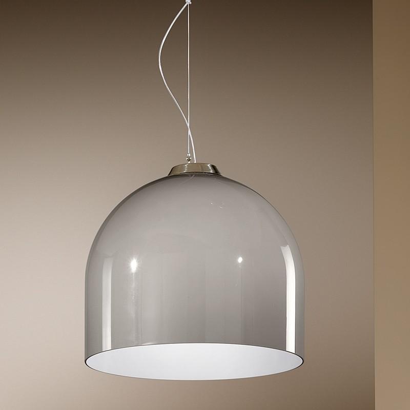BOWL Lampada a Sospensione in Vetro Soffiato Design Moderno d. 40