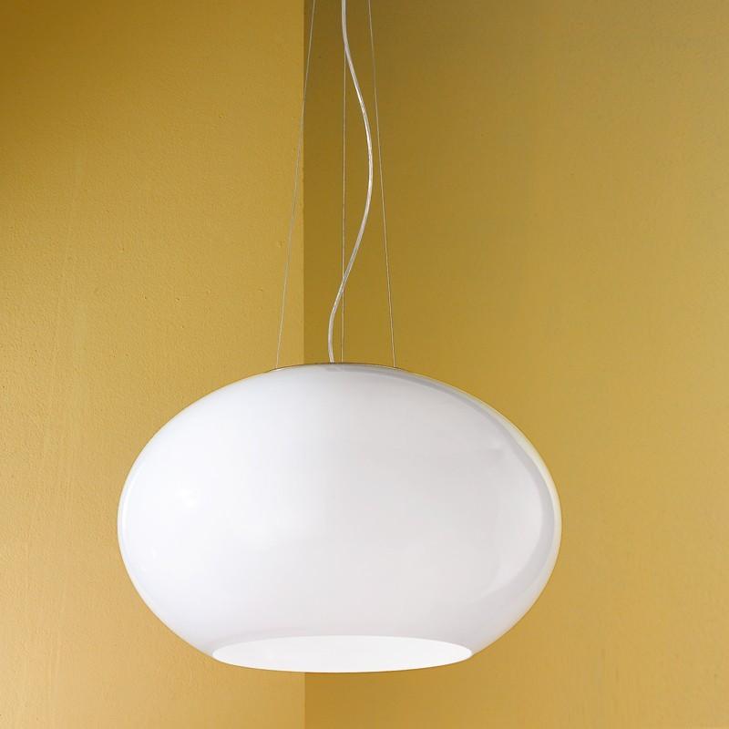 Earth moderna lampada a sospensione per cucina in vetro - Lampade per cucina moderna ...