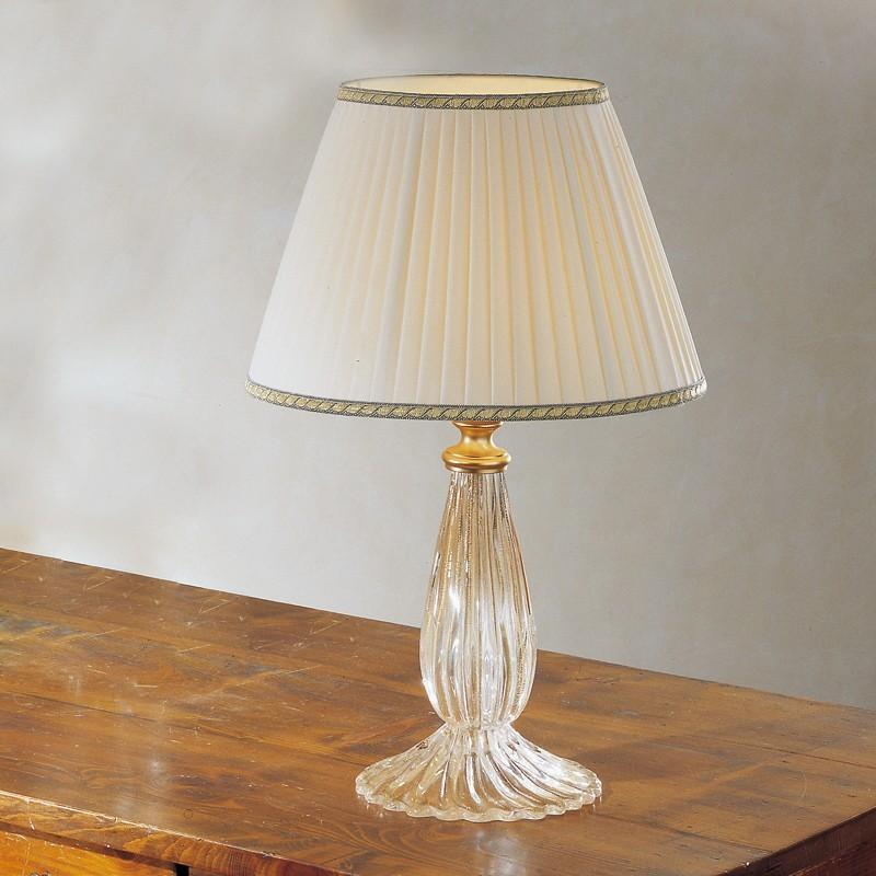 MUSA Lampada da Tavolo in Vetro Soffiato di Murano con Paralume d. 30
