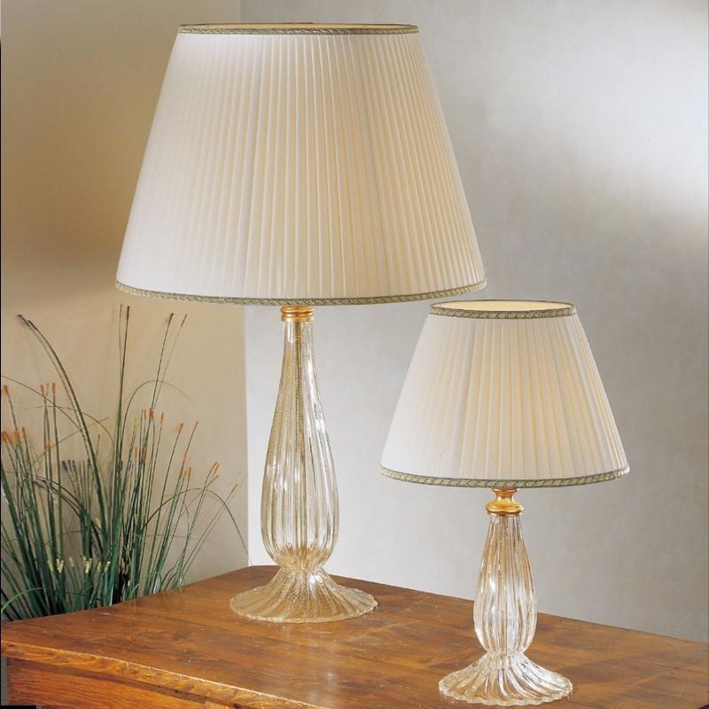 Musa lampada da tavolo in vetro soffiato di murano con paralume d 50 - Lumi camera da letto ...