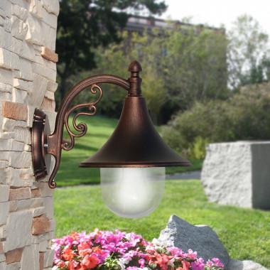 DIONE Lanterna a Parete in Alluminio Lampada per Esterno Classica