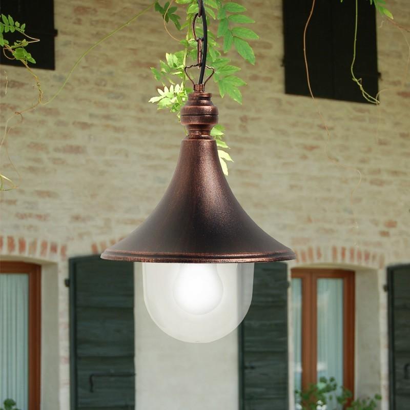 DIONE Lampada a Sospensione in Alluminio per Esterno Classica