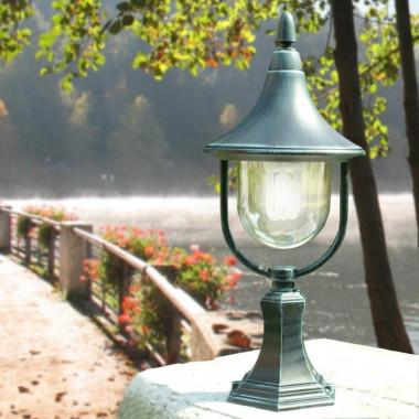 DIONE Nanetto Lampioncino in Alluminio Lampada per Esterno Classica