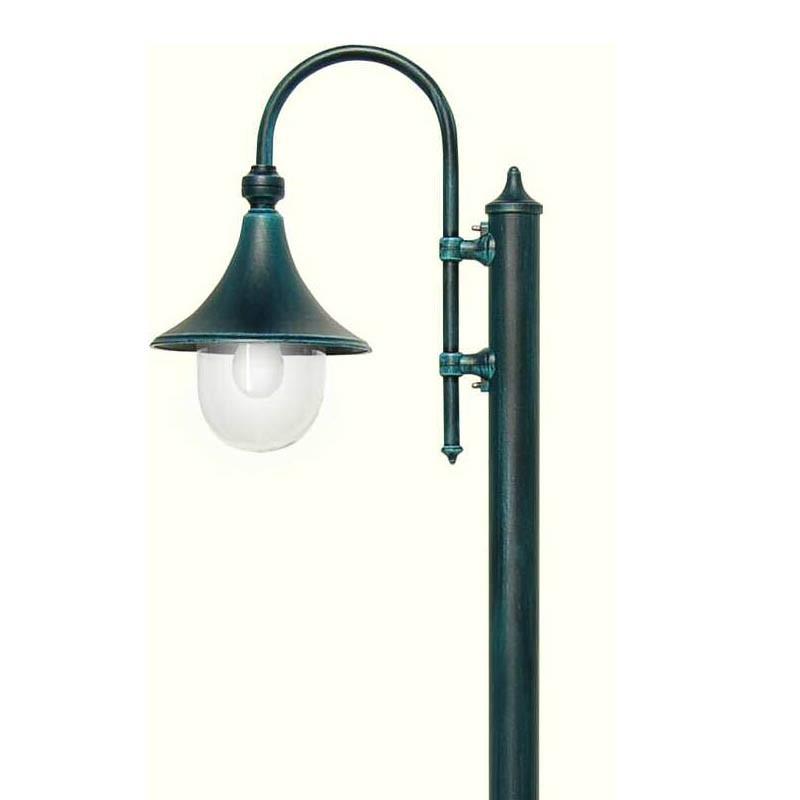 Dione palo lampione da esterno giardino illuminazione for Lampioni da giardino obi