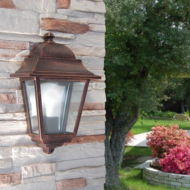 ATHENA Lanterna a Parete Quadrata Classica Illuminazione Esterno Giardino