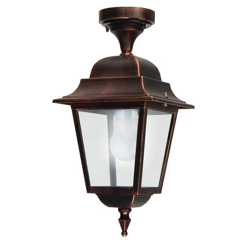 ATHENA Lampada a Soffitto Plafoniera Quadrata Classica Illuminazione Esterno