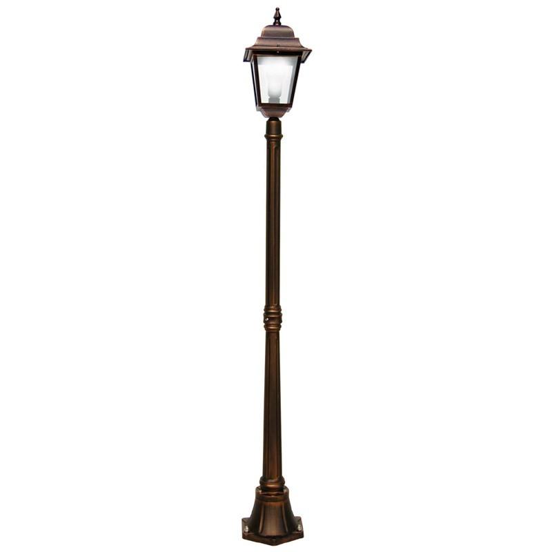 ATHENA Lampioncino Palo Lanterna Quadrata Illuminazione Esterno Giardino