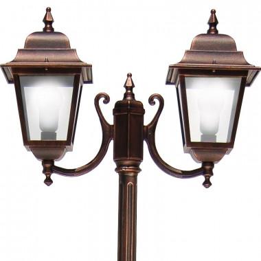 ATHENA Lampione Palo 2 luci Illuminazione Classica Esterno