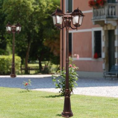 ATHENA Lampione Palo 3 Luci Illuminazione Esterno Giardino