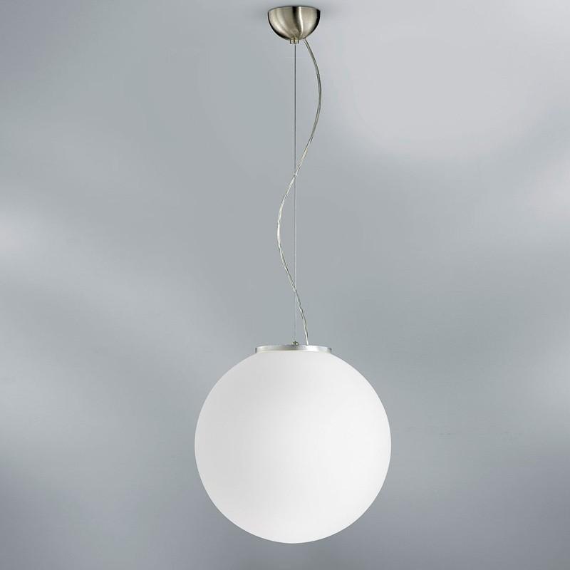 COCCOLE di Antea Luce, Lampadario Lampada Sospesa Sfera in Vetro Soffiato Bianco