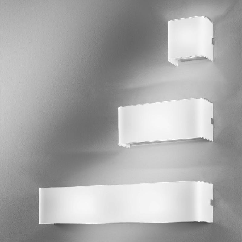 LINEAR WHITE Applique Parete in Vetro 3 Misure