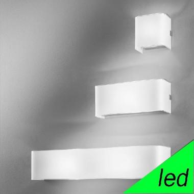 LINEAR WHITE LED Applique Parete in Vetro 3 Misure