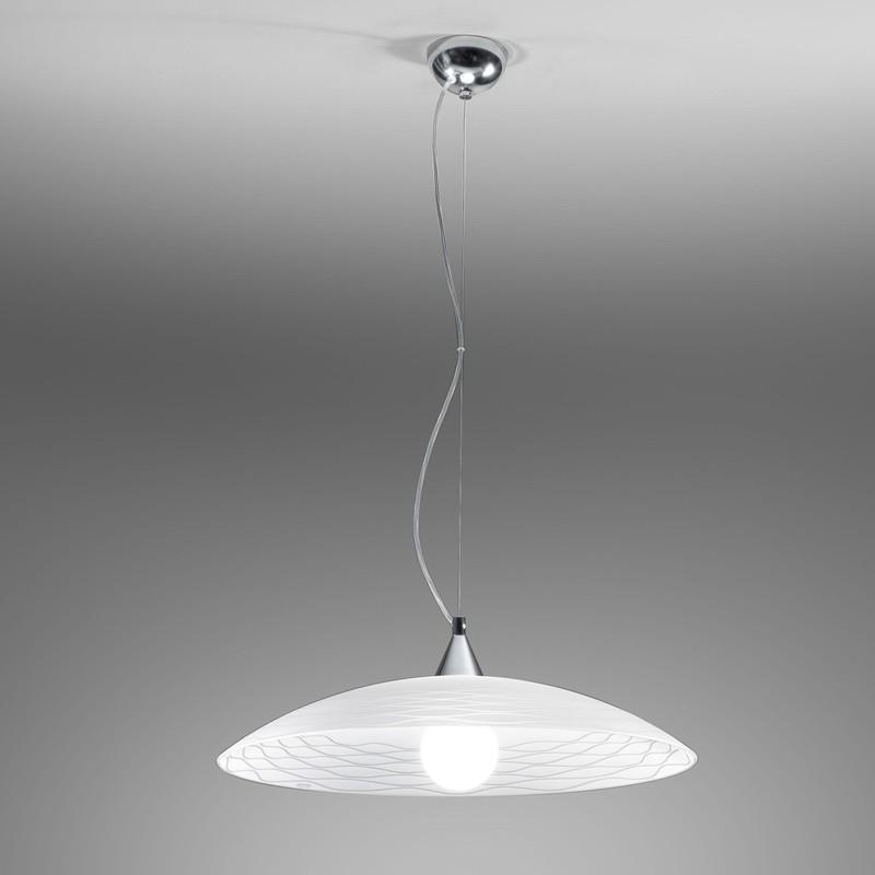 KLOE Lampada Sospensione in Vetro D.50 Cm