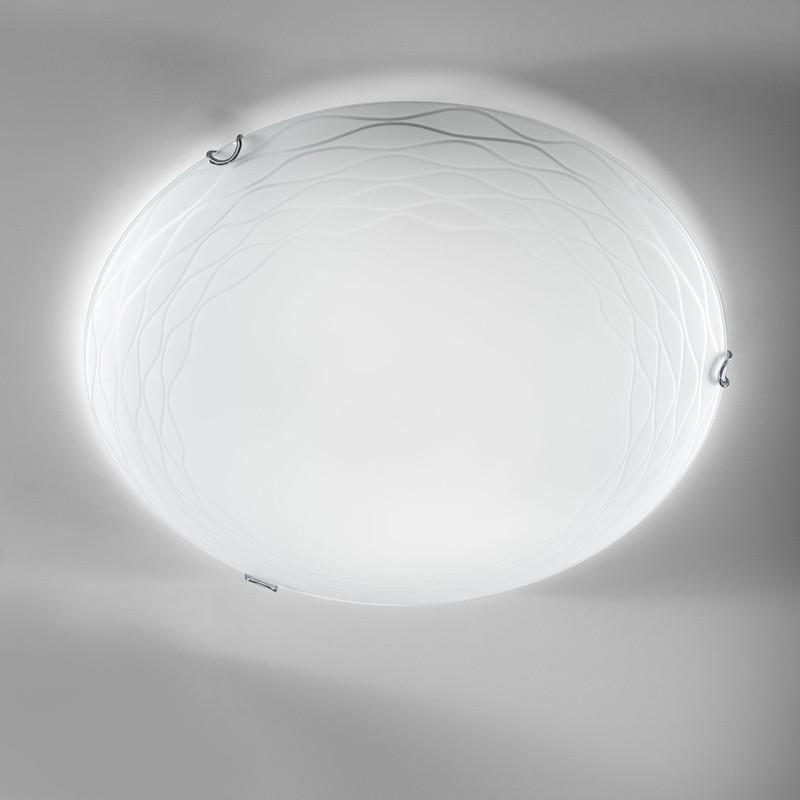 plafoniera lampadario da soffitto in vetro bianco design moderno. Black Bedroom Furniture Sets. Home Design Ideas