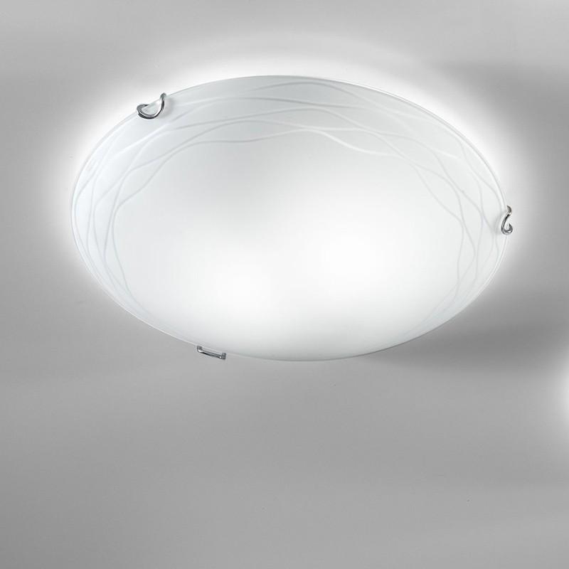 KLOE Lampada da Soffitto in Vetro D.40 Cm