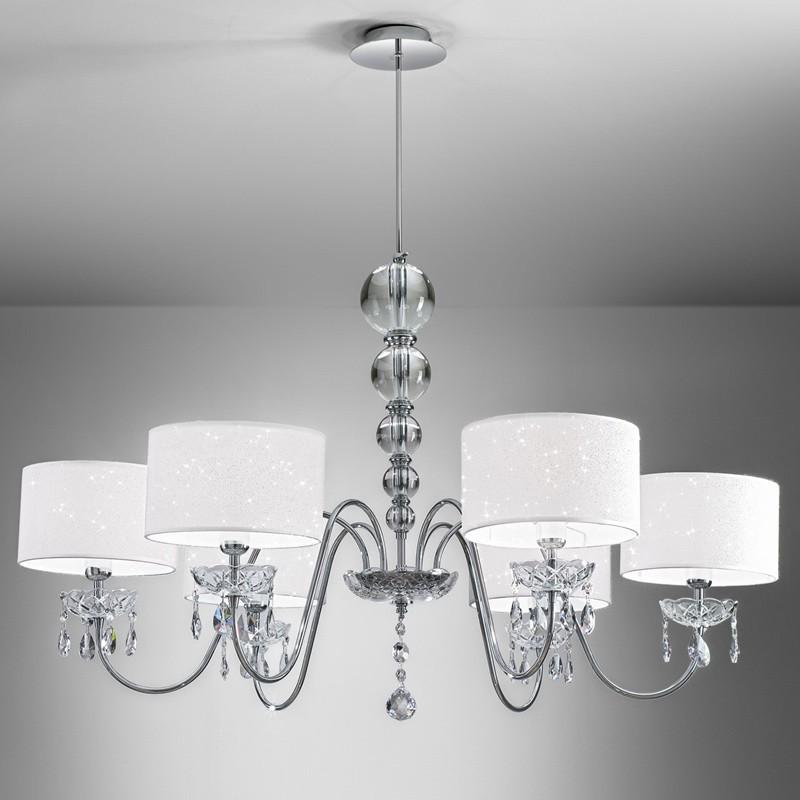 Lampadari Moderni In Offerta.Helen Lampadario Design Moderno Con Cristalli