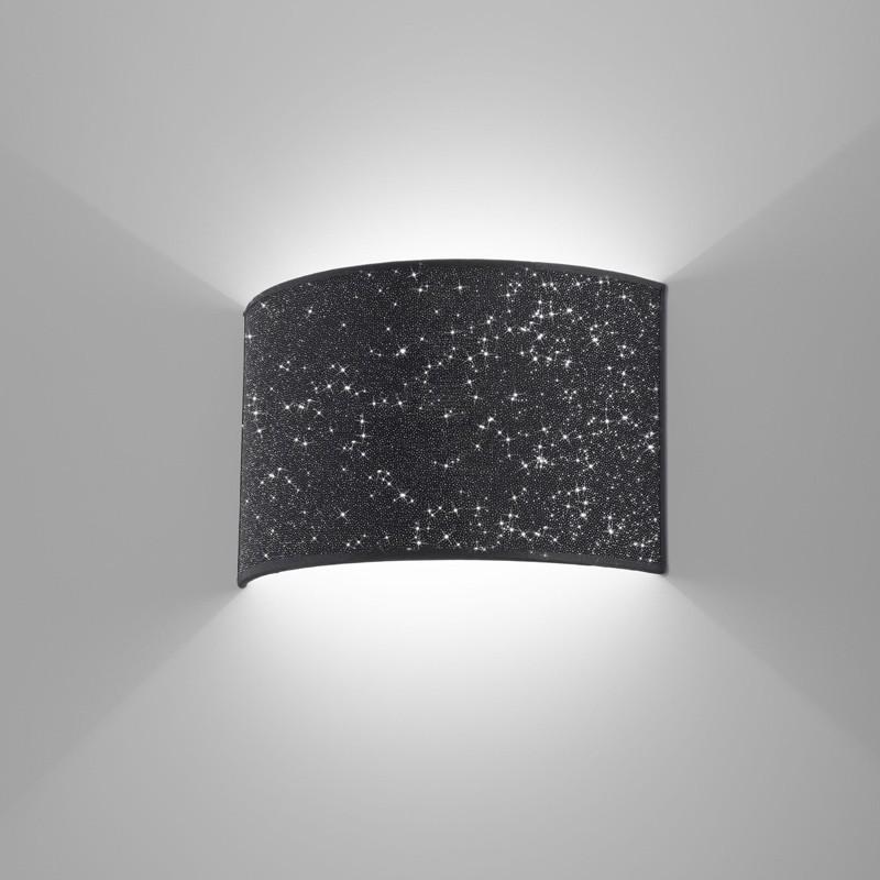 Lampada applique paralume moderno glitter antea luce - Applique di design ...