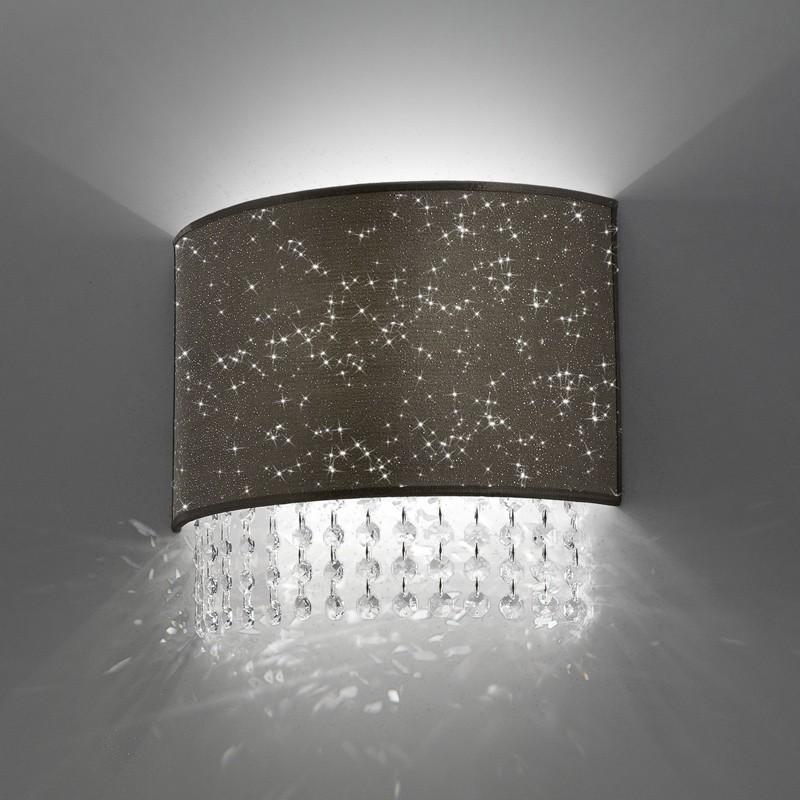 Lampada applique moderno cristalli glitter antea luce for Design moderno interni