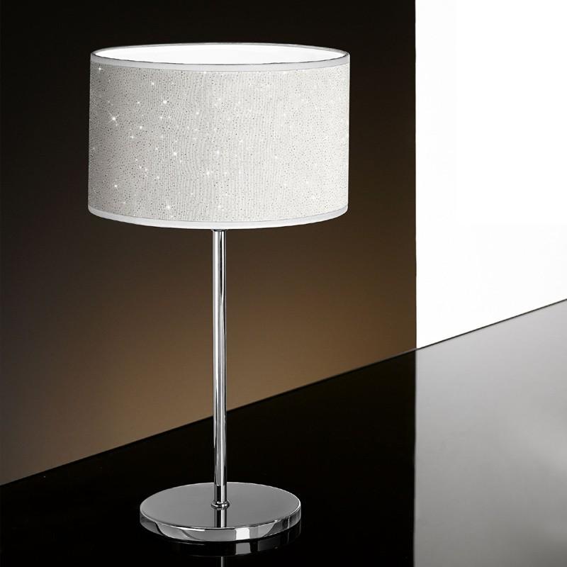 Lampade Da Tavolo Moderne Colorate.Glitter Lampada Da Tavolo Design Moderno Con Paralume