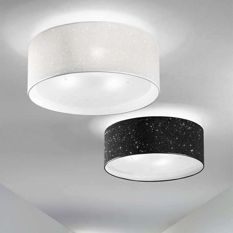 Lampada plafoniera paralume moderno glitter antea luce illuminazione - Lampadario camera da letto classica ...