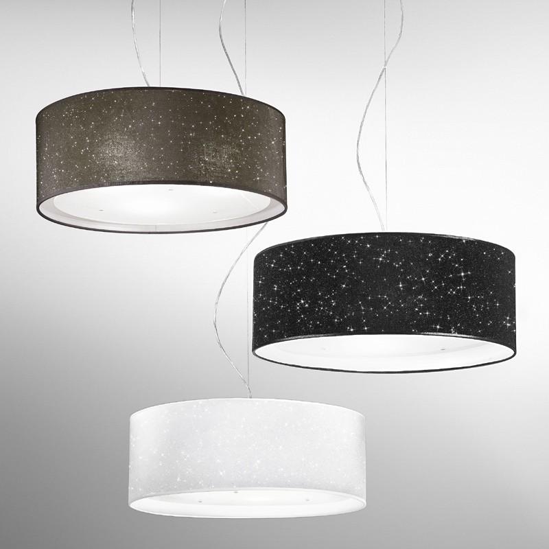 Lampada sospensione paralume moderno glitter antealuce for Lampadario camera da letto led