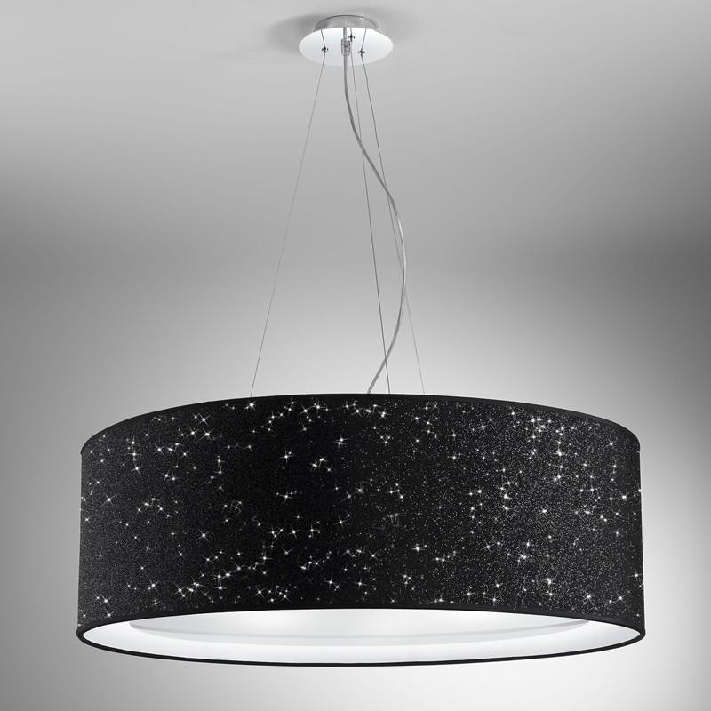 GLITTER Maxi Lampadario Design Moderno con Paralume D.75 Cm