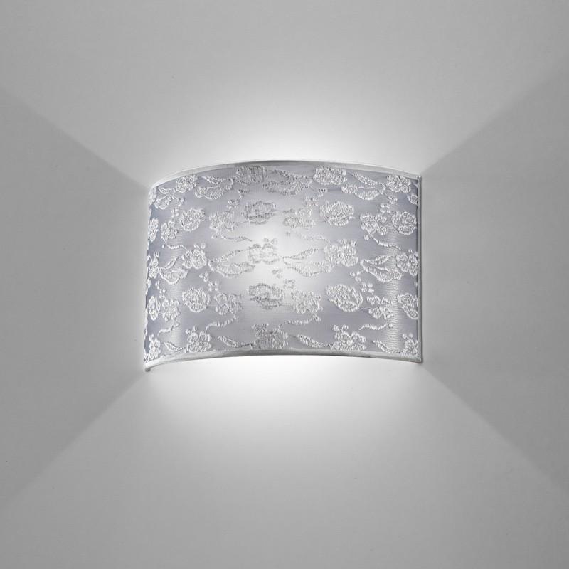 Lampada Applique Paralume Moderno  Violetta Antea Luce Illuminazione