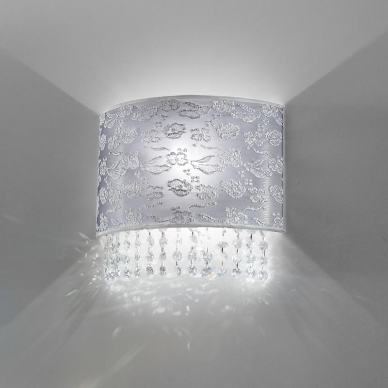 La De Et Dentelle Murale Violetta Cristaux Applique Moderne Lampe Avec xBodCe