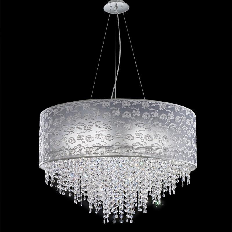 Lampadario sospensione moderno cristalli violetta di - Lampadario camera da letto moderno ...