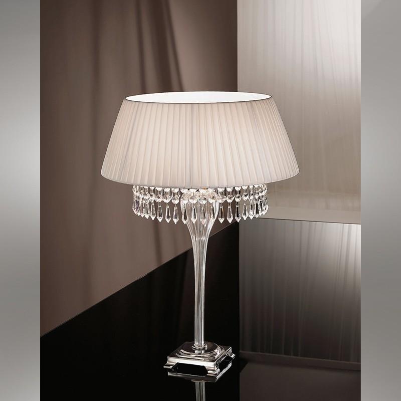 Abat jour in cristallo paralume fasciato design paolina for Abat jour moderne camera da letto