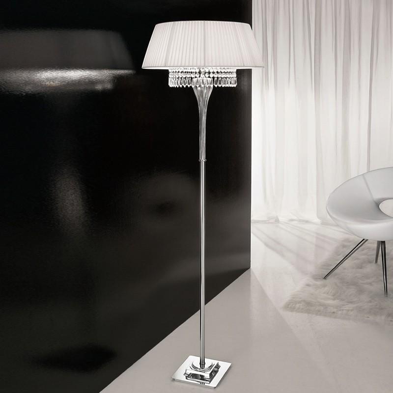 lampadaire abat jour en verre souffl pauline antea lumi re. Black Bedroom Furniture Sets. Home Design Ideas