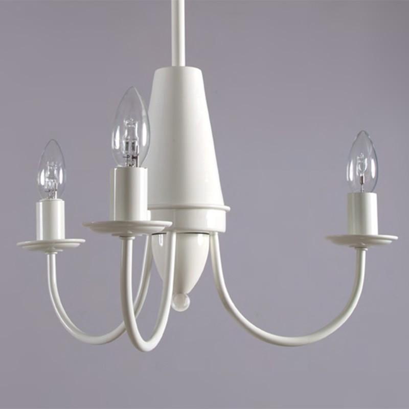 ATELIER Lampadario a Braccia 3 luci Metallo Bianco Design Moderno