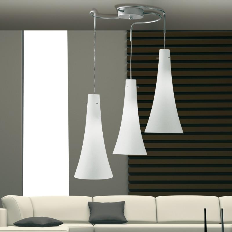 Slim lampada a sospensione a 3 luci dal design moderno for Luci cucina design