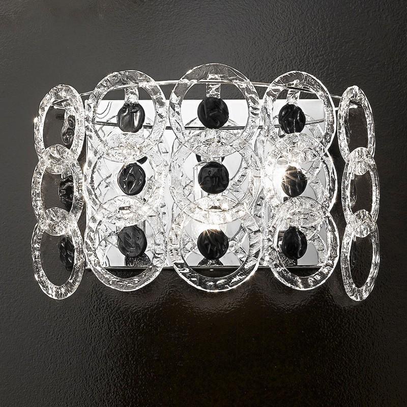 MARY ROSE Applique da Parete Pendagli in Cristallo L.55 cm