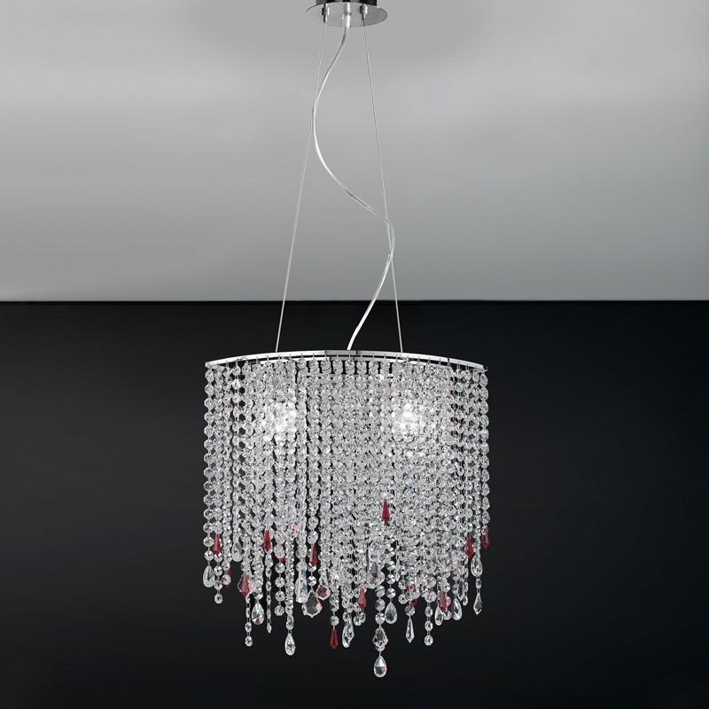 ALYSSA Antea Luce, Lampadario Ovale Design Moderno con Cristalli Pendenti