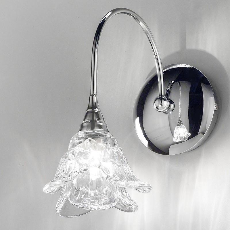 Lampada applique cromo moderno magnolia di antea luce - Applique parete design ...
