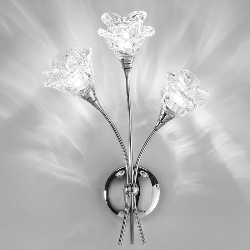 Lampada applique cromo moderno magnolia di antea luce for Applique da parete moderni