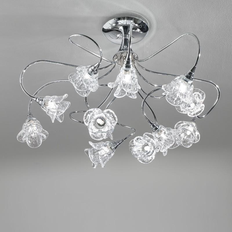 Lampada plafoniera cromo moderno magnolia antea luce - Lumi camera da letto ...