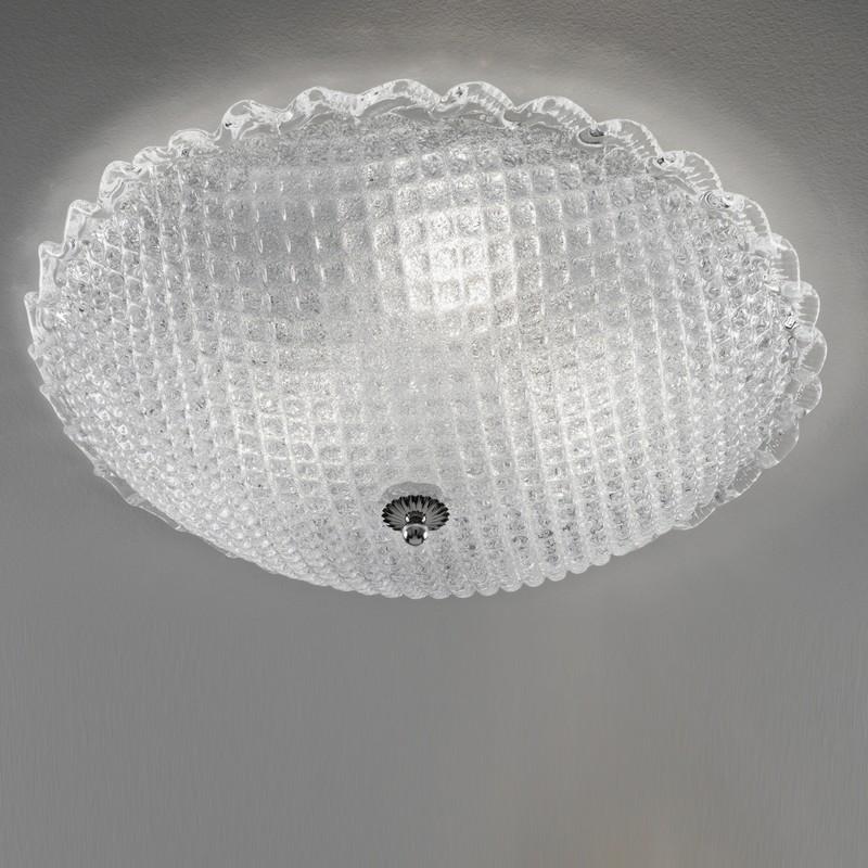 CA' DORA Plafoniera in Vetro Di Murano d.50 Design Contemporaneo