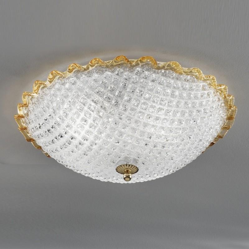 CA' DORA Ceiling light in Murano Glass d.40 Design Contemporary