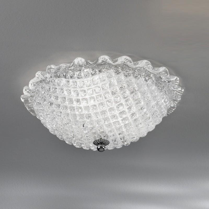 CA' DORA Plafoniera in Vetro Di Murano d.30 Design Contemporaneo